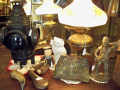 Antique Doorstops and Railroad Lantern
